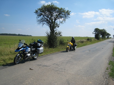 At the roadside, somewhere in the Czech Republic with nothing for miles around…