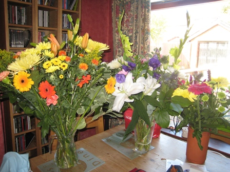 Just some of the beautiful flowers we've been sent…