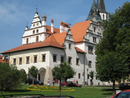 The imposing building at the centre of the square in Levoca…