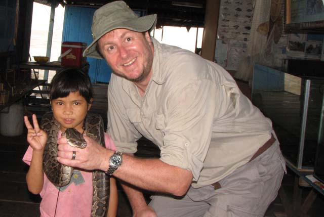 Paul, a little girl, and a big snake...