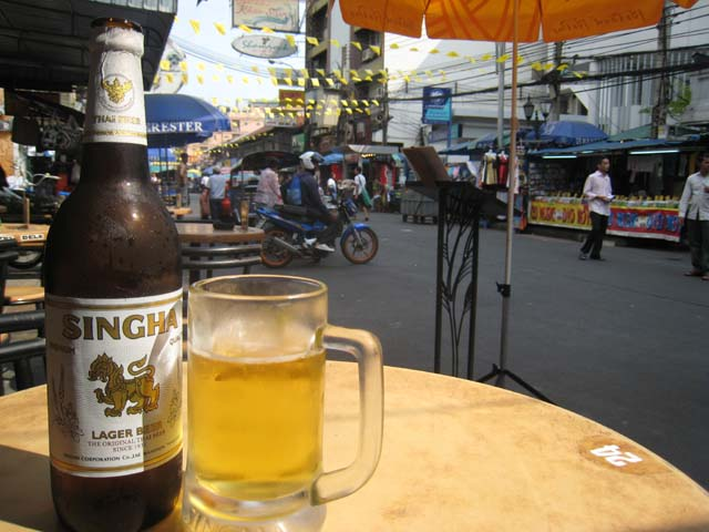 Cold beer, Khao San Road, Bangkok...