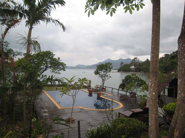 The view over the pool, Siam Bay Resort, Koh Chang...