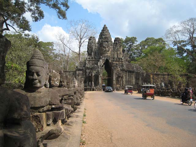 Bridge leading to South Gate, Angkor Thom