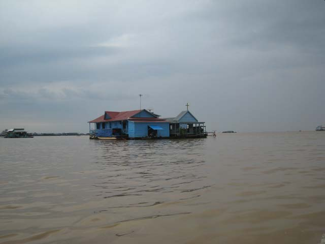 Floating church, Tonle Sap
