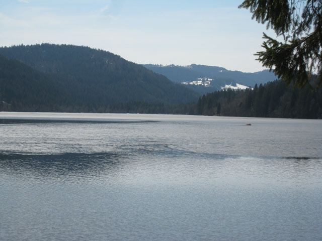 Titisee, still partially frozen
