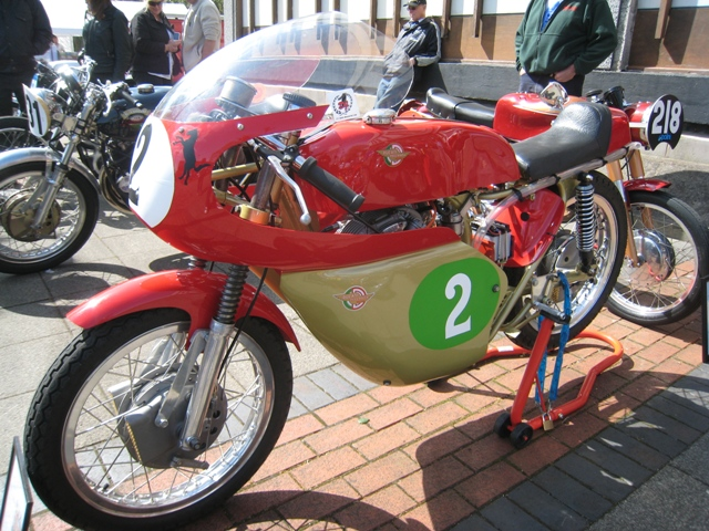 A beautiful classic MV Augusta race bike