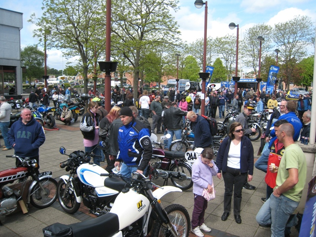 The classic bike show attracts a large crowd