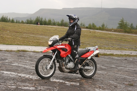 Tracy riding at the off-road school