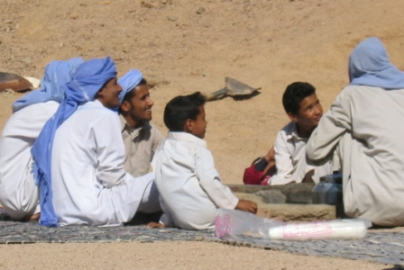 Bedouins chatting