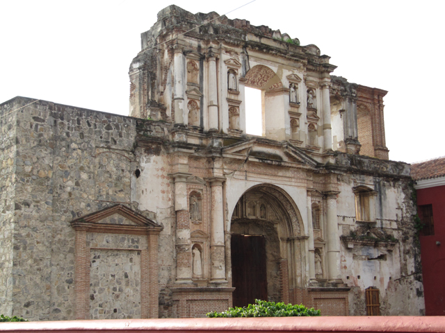 One of the ruined churches in Antigua Guatemala...