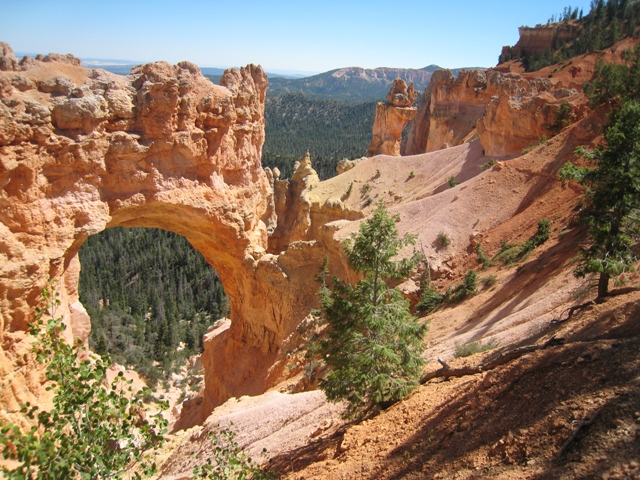 One of the many naturally formed arches at Bryce Canyon