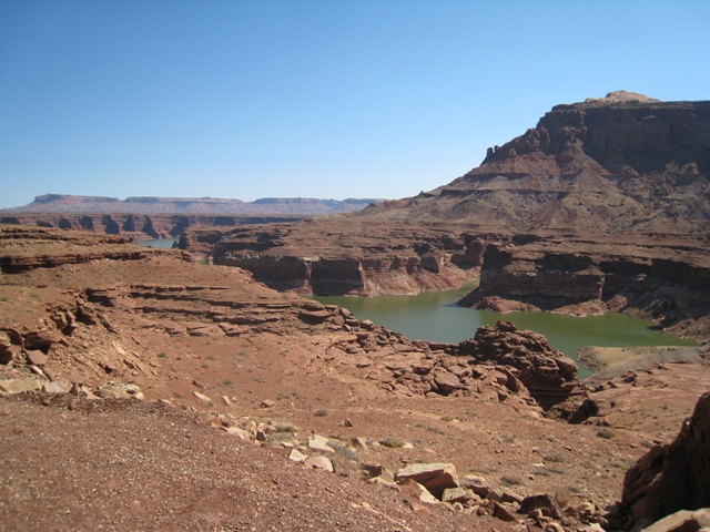 The view at the start of Glen Canyon near Hite