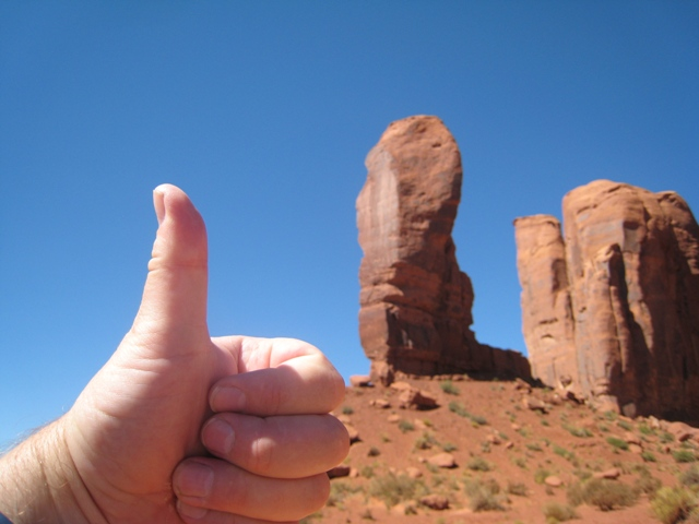 Thumb rock… Wonder why it's called that?