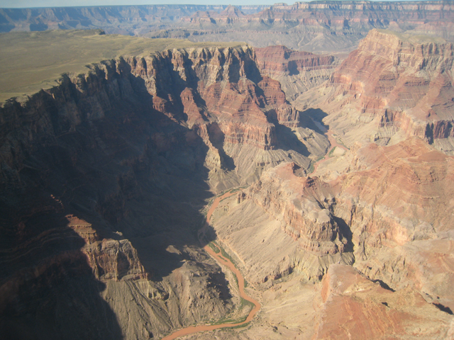 The Colorado River winding its way through spectacular scenery
