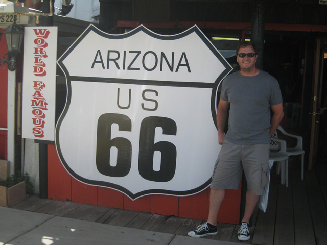 It's hard not to look cool on Route 66… but Paul manages it somehow…