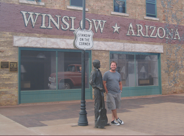 Standin' on a corner in Winslow, Arizona…