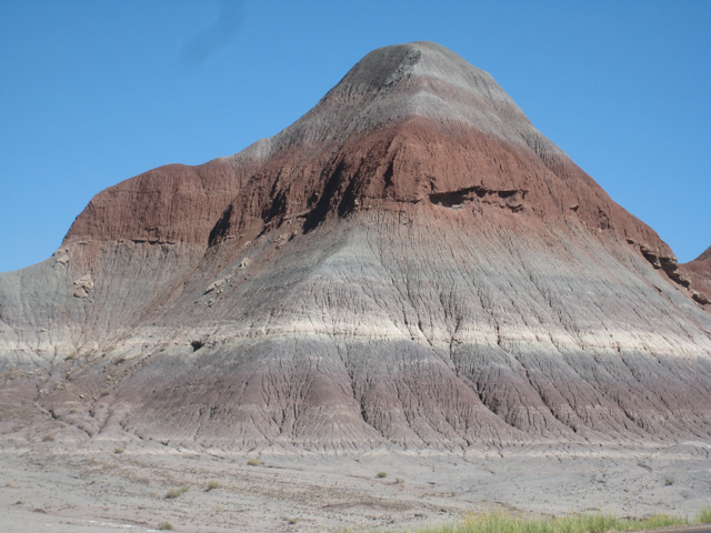 Colourful rock hills in the Petrified Forest National Park…