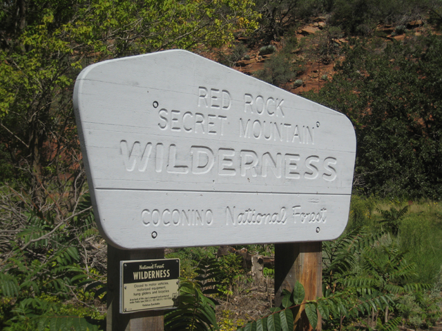 Another ugly WILDERNESS sign ruins the wilderness…