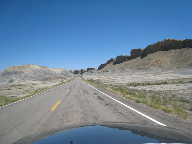The weird moonscape between Torrey and Hanksville…