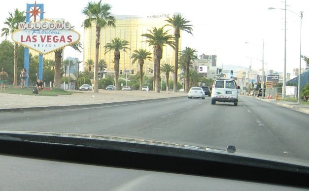 Arriving in Las Vegas...